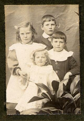 Ivy Langton top left (others are Kath, Bill and Eddy) 1914
